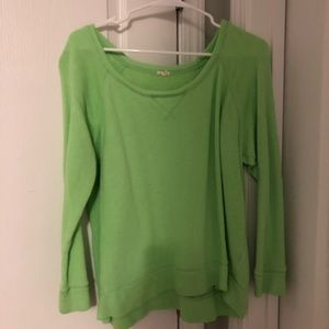 J Crew lime sweatshirt